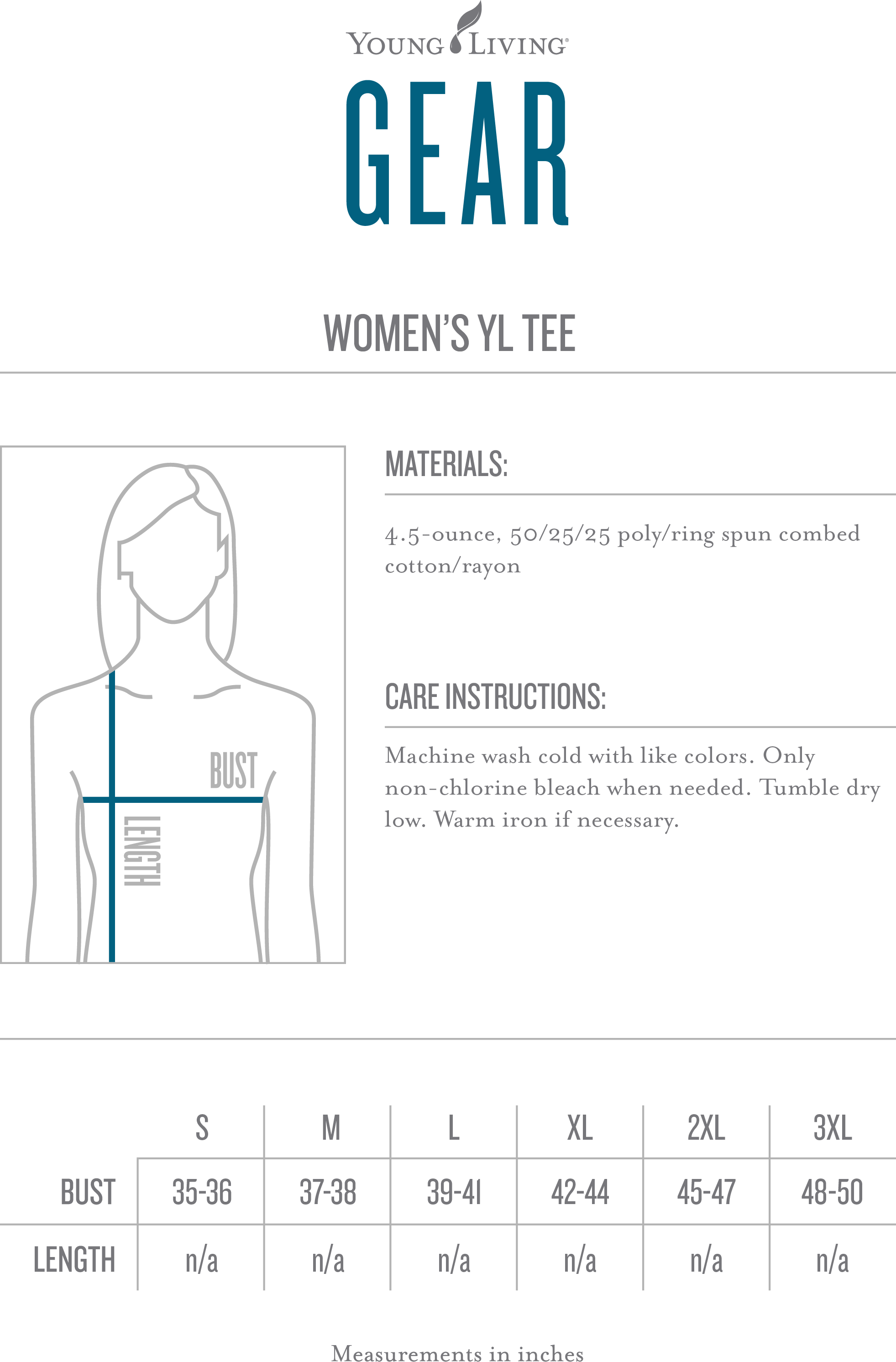 Womens yl logo tee younglivinggear size chart nvjuhfo Image collections