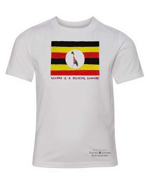 Youth Uganda is Peaceful T-shirt (African Hearts)