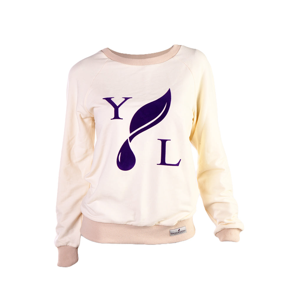 Ladies' Cream Crewneck Sweatshirt