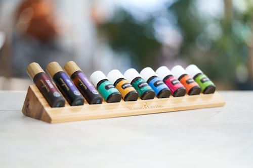 Bamboo Oil Bottle Rack