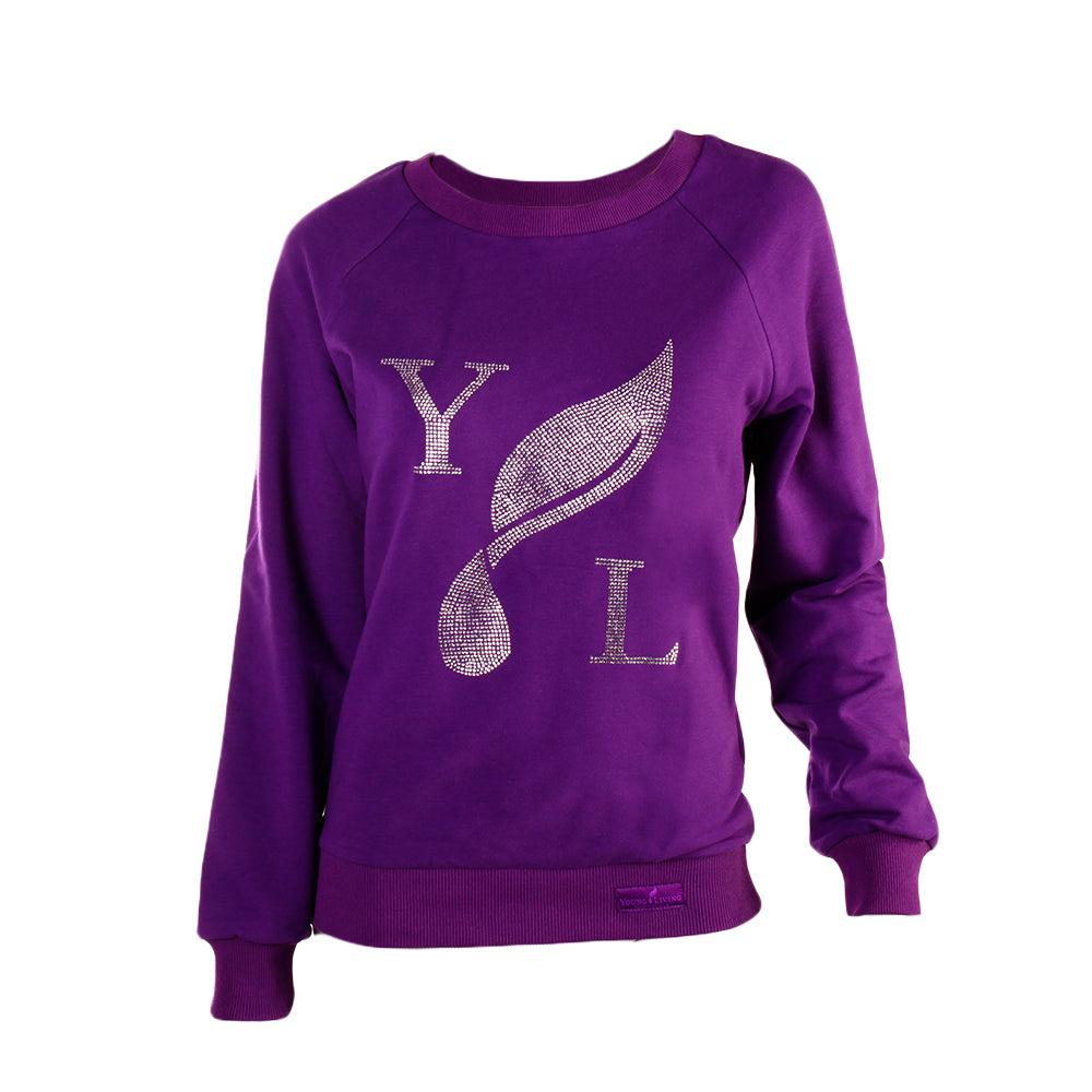 Ladies' Purple Crewneck Sweatshirt