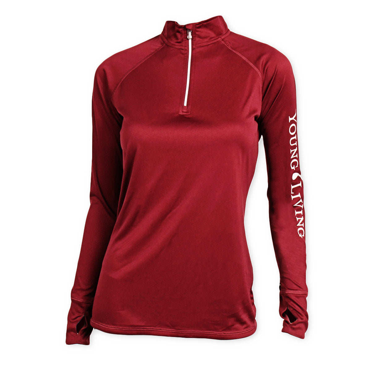 Ladies' Maroon Quarter Zip