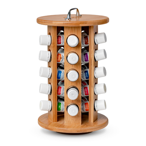 Bamboo Rotating Oil Rack