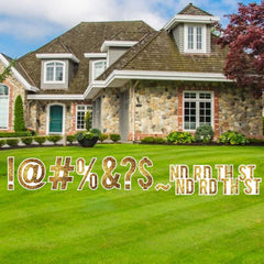 18 inch Bebas Sparkle Special Character yard Letter Sets