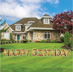 18 inch KG The last time happy birthday yard letter sets