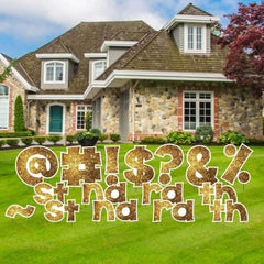 24 inch KG Sparkle Special Character Sets of Yard Letters