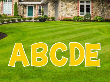 "18"" Tall Yard Sign Letters in Fun Font"