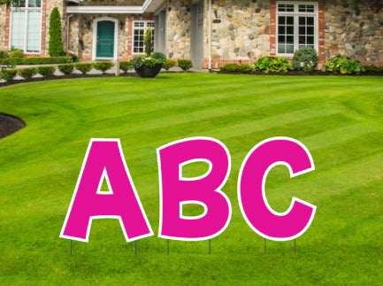 "24"" Tall Yard Letters in fun font"