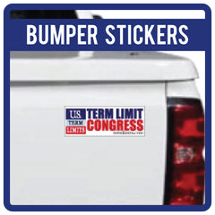 US Term Limits Bumper Stickers & Magnets