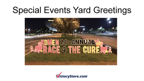 race for a cure lawn decor