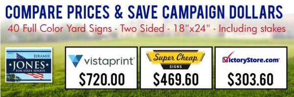 Compare Yard Sign Prices and Save at VictoryStore.com