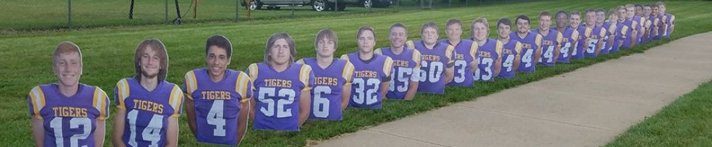 Football Team Player Cutouts
