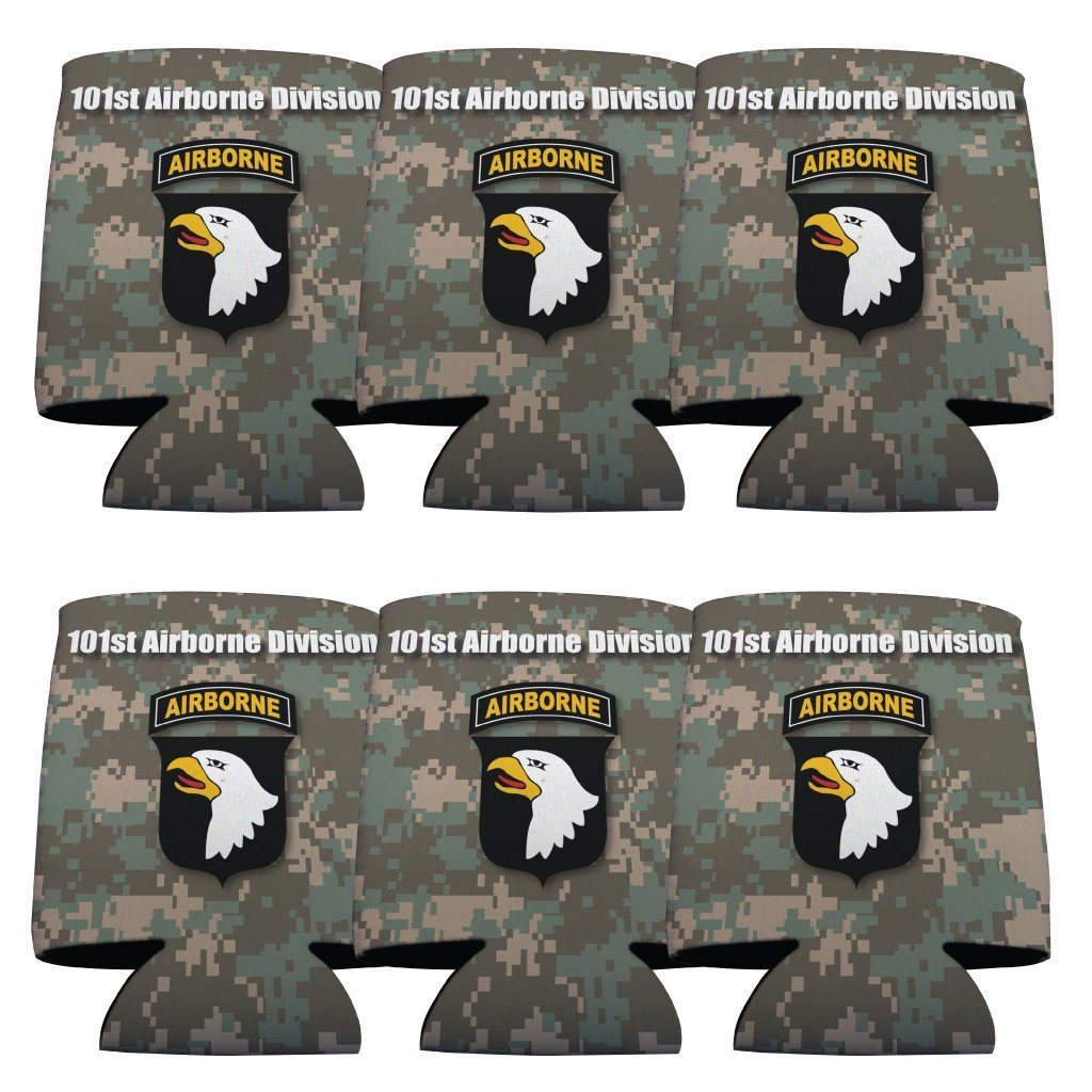 Military 101st Airborne Division Can Cooler Set of 6 - 6 Designs - FREE SHIPPING
