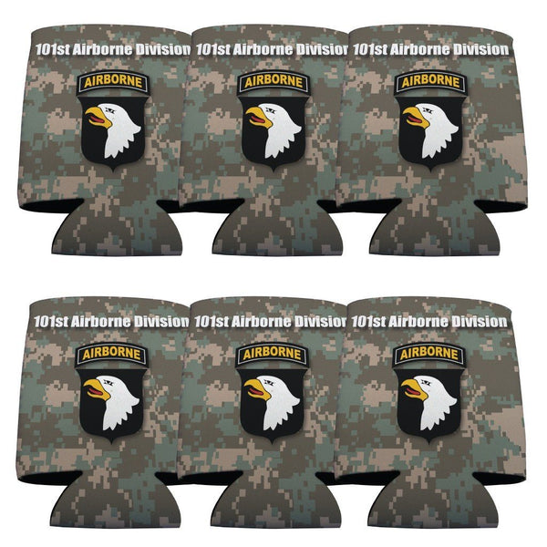 Military 101st Airborne Division Can Cooler Set -6 designs- Set of 6 -