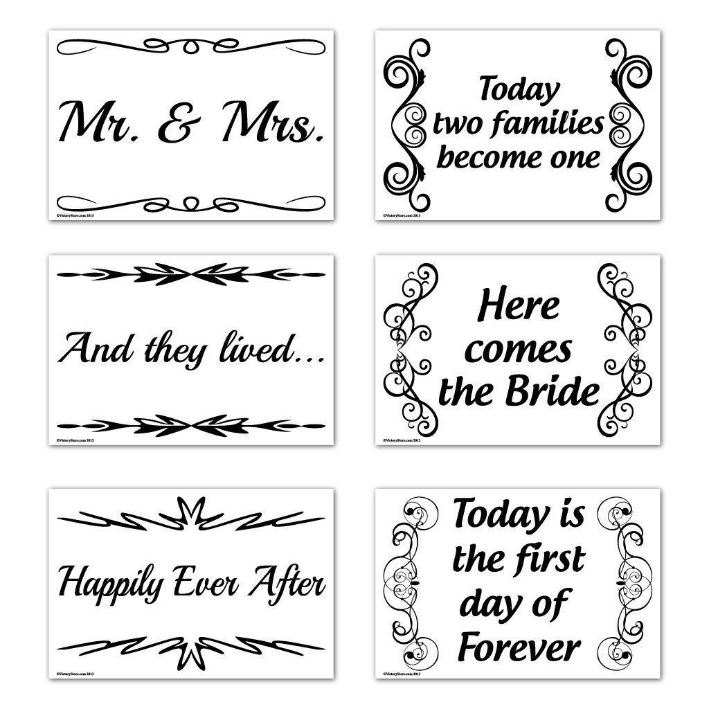 Wedding Yard Sign - 12x18 - Corrugated Plastic Sign - Set of 6