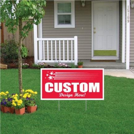 "Next Day Yard Signs - 12""x24"""