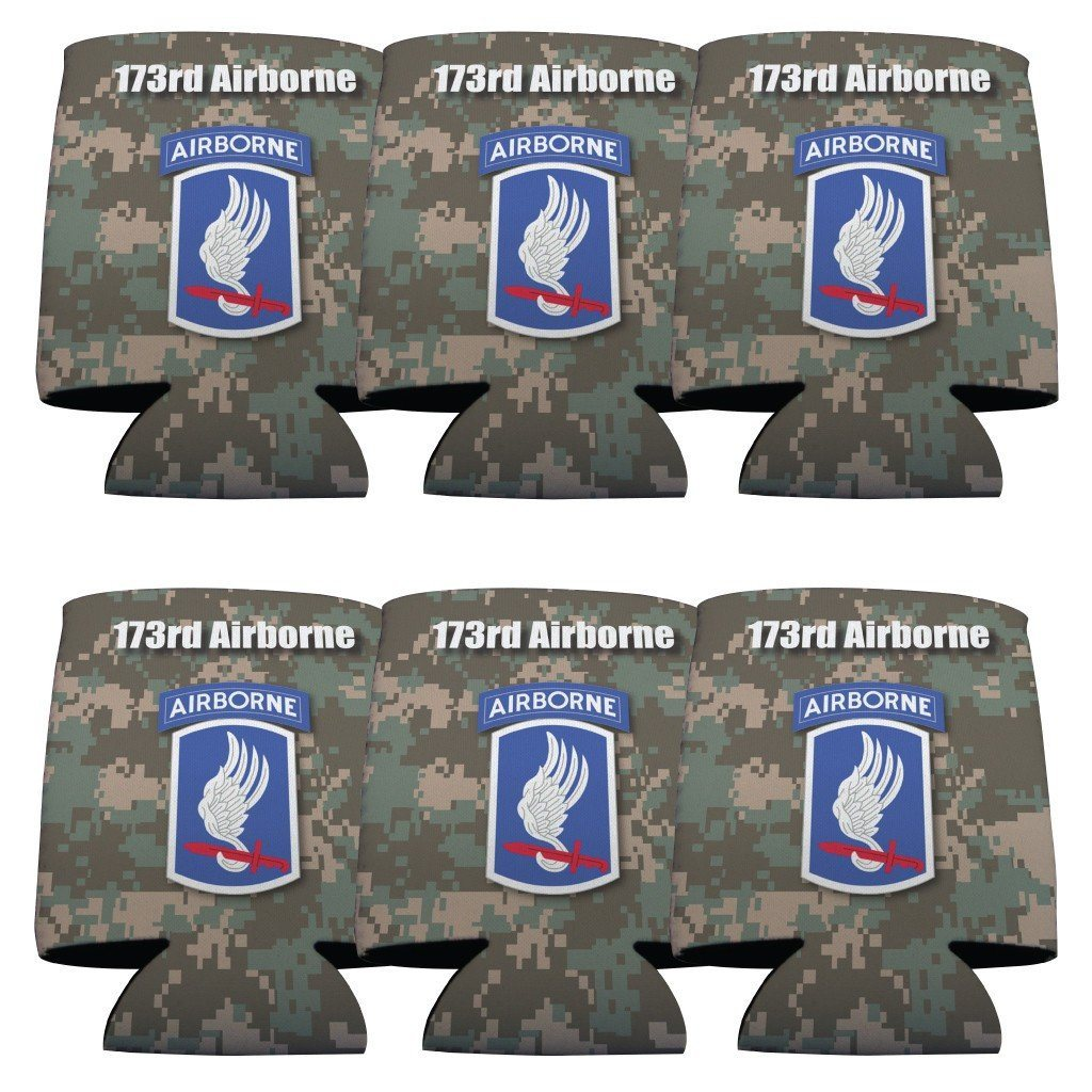 Military 173rd Airborne Division Can Cooler Set of 6 - 6 Designs - FREE SHIPPING