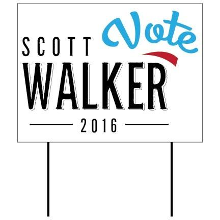 Scott Walker 18x24 Yard Sign