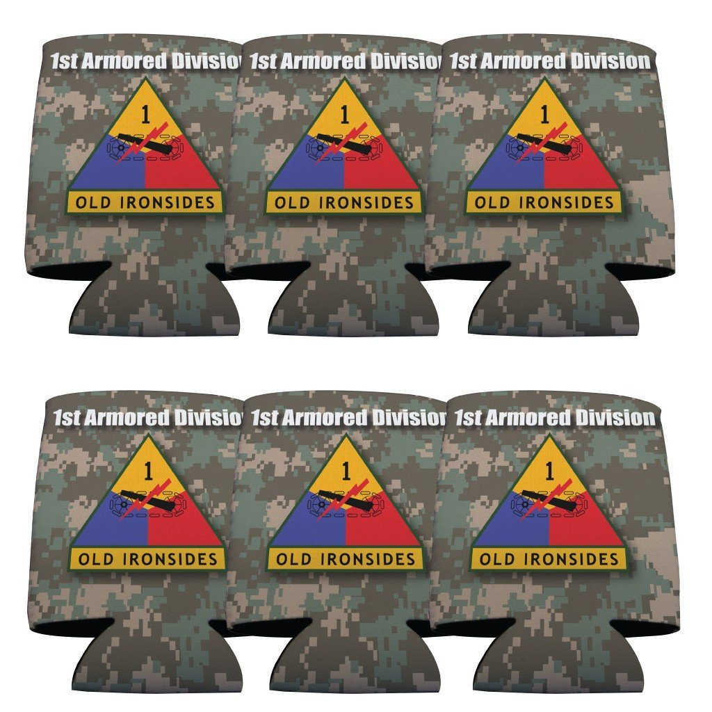 Military 1st Armored Division Can Cooler Set of 6 - 6 Designs - FREE SHIPPING