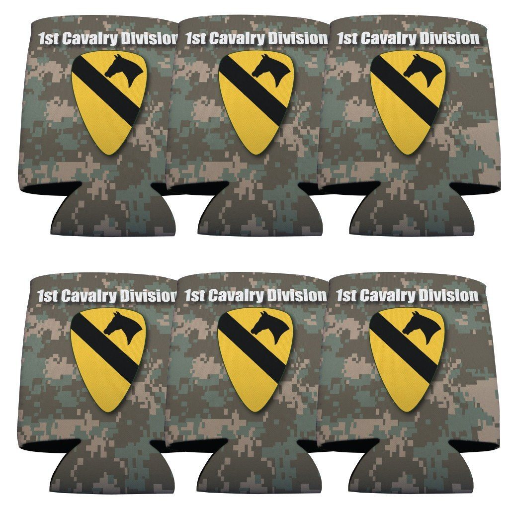 Military 1st Cavalry Division Can Cooler Set of 6 - 6 Designs - FREE SHIPPING