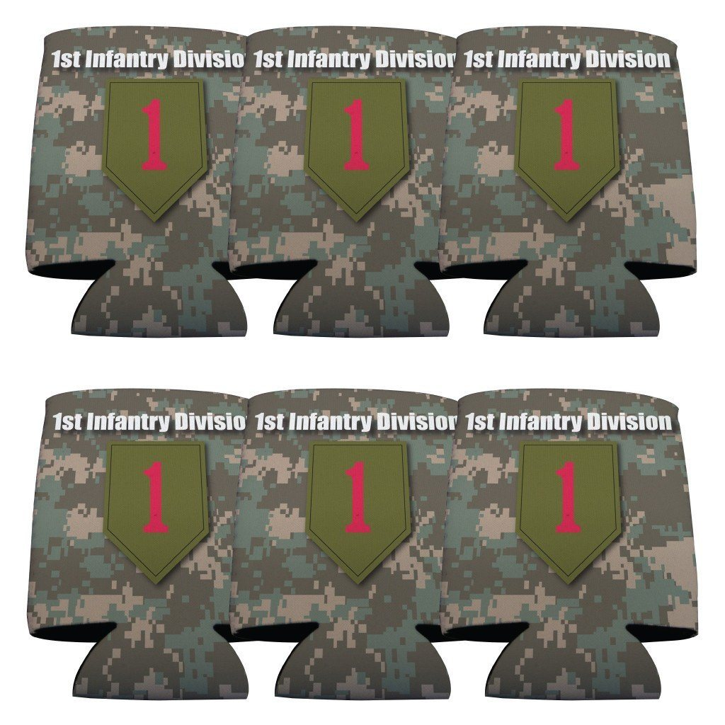 Military 1st Infantry Division Can Cooler Set of 6 - 6 Designs - FREE SHIPPING