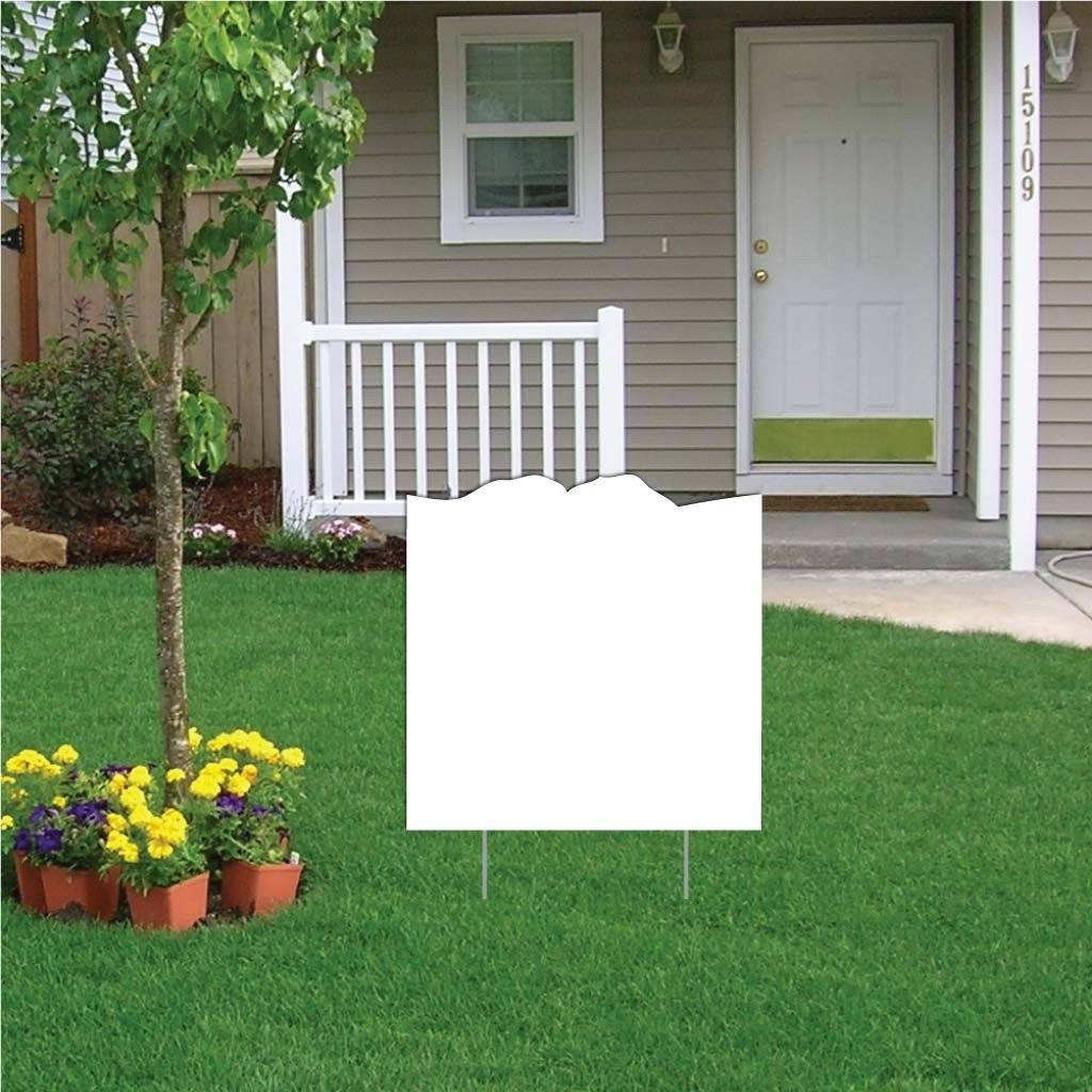 Knuckles Touch 4 mil Corrugated Plastic Yard Sign Blank