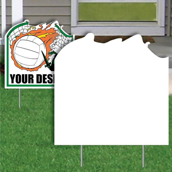 Net Buster Volleyball 4 mil Corrugated Plastic Sign Blank