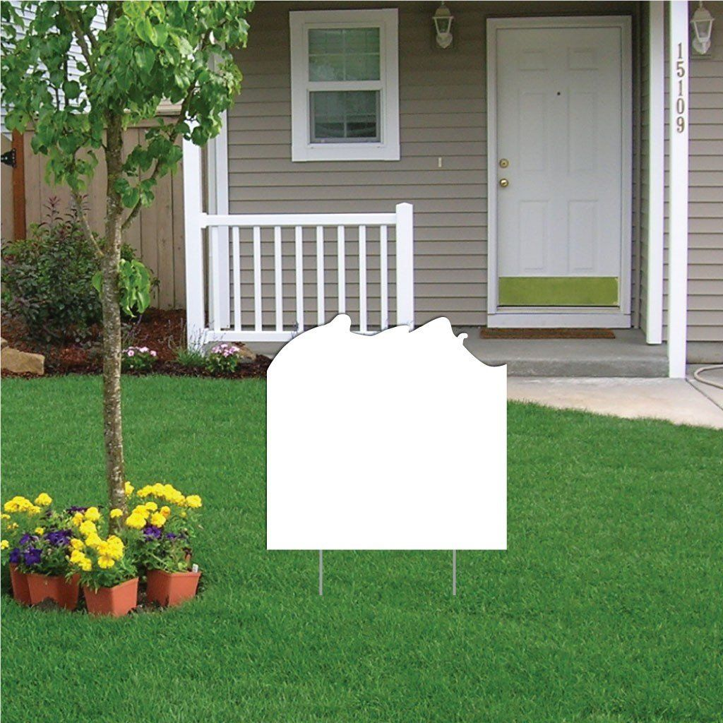 Net Buster Volleyball 4 mil Corrugated Plastic Yard Sign Blank