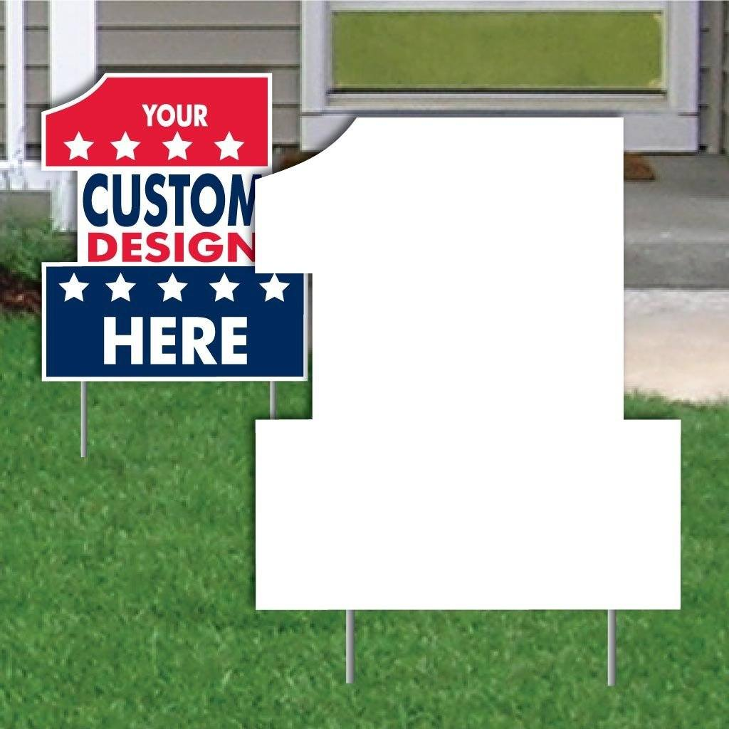 Number One 4 mil Corrugated Plastic Yard Sign Blank