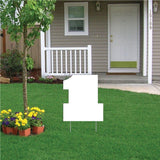 Number One 4 mil Corrugated Plastic Sign Blank