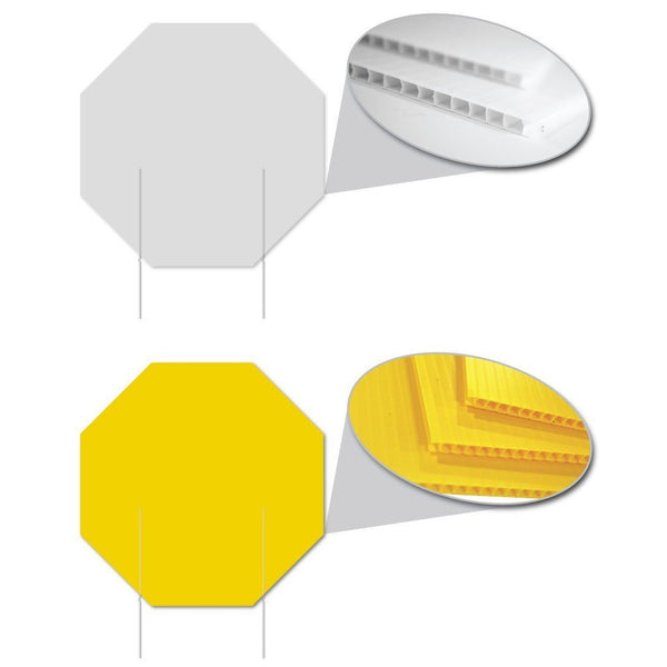 Octagon 4mm Corrugated Plastic Blank - White or Yellow