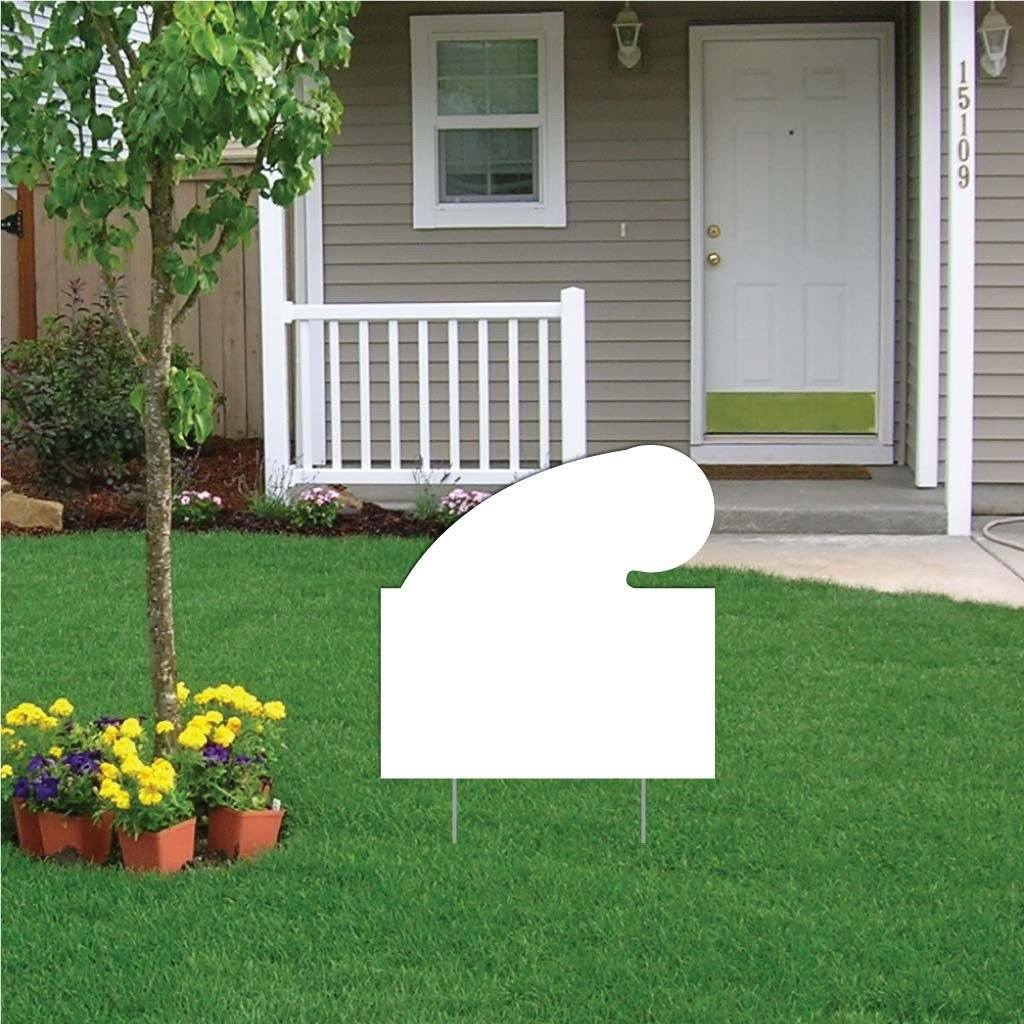 Rectangle with Swoosh 4 mil Corrugated Plastic Yard Sign Blank