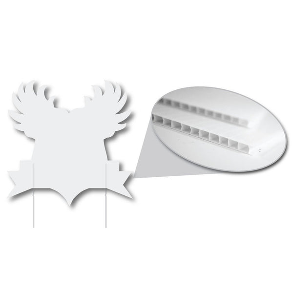 Shield with Wings 4 mil Corrugated Plastic Sign Blank