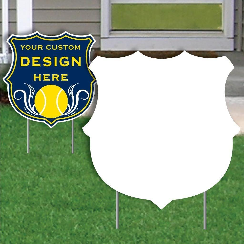 Shield 4 mil Corrugated Plastic Yard Sign Blank