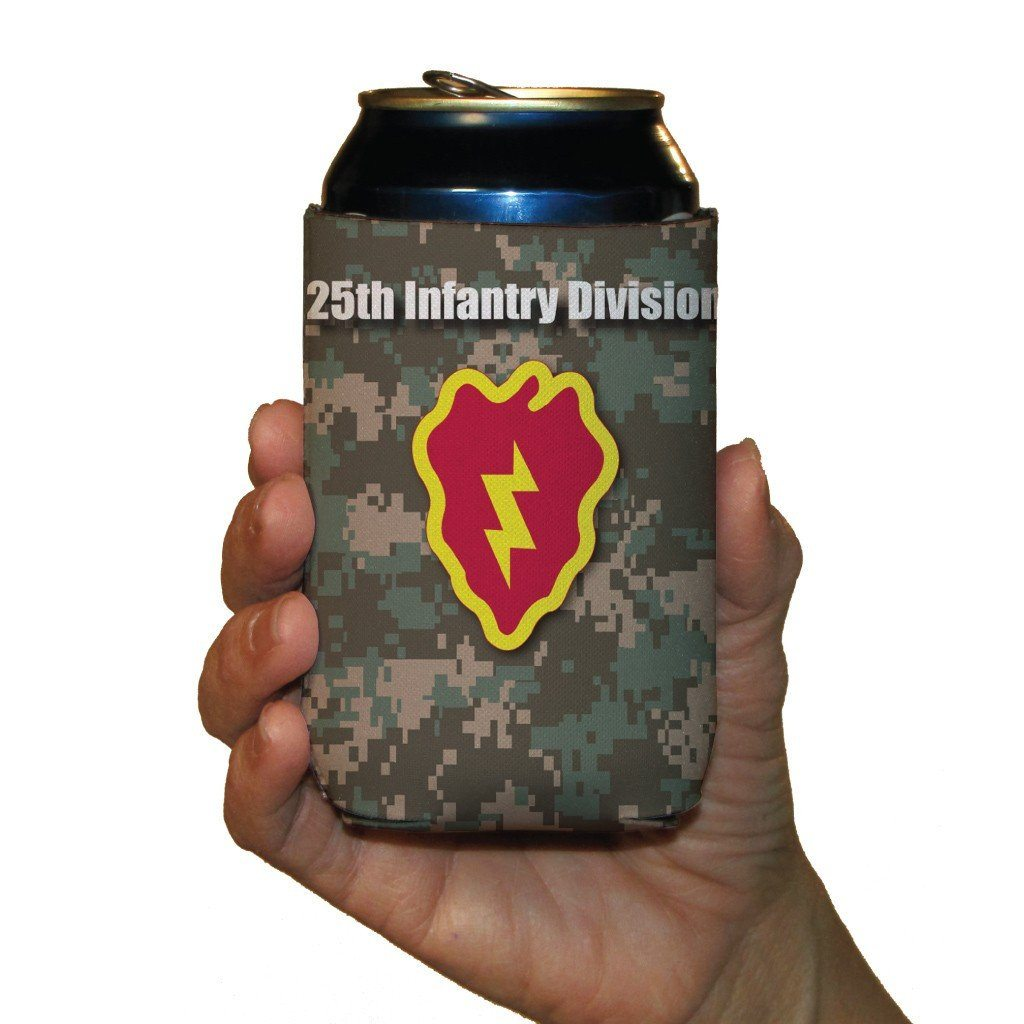 Military 25th Infantry Division Can Cooler Set of 6 - 6 Designs - FREE SHIPPING