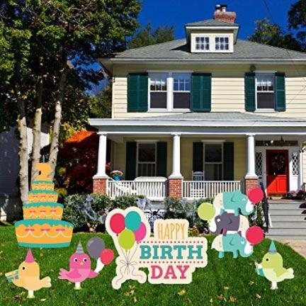 Happy 2nd Birthday Yard Decoration 6 piece set - FREE SHIPPING