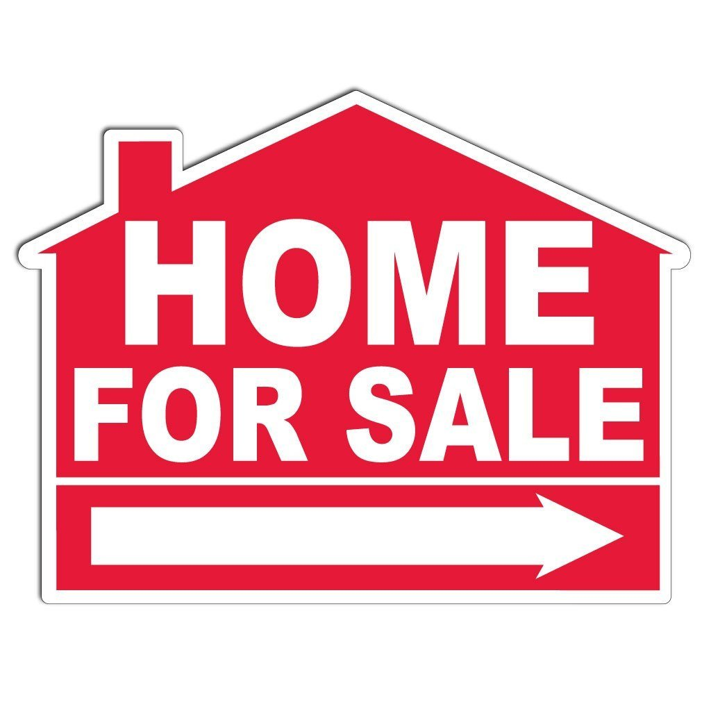 home for sale house shaped yard sign