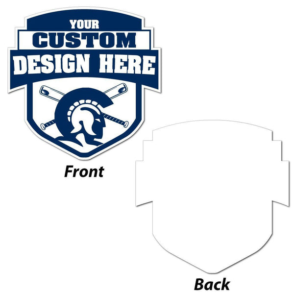 "Shield with Banner (Shape #2) Sign - 22x22"" - Corrugated Plastic"