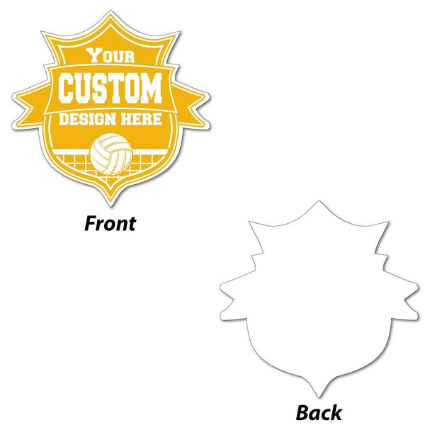 "Shield with Ribbon Shaped Sign - 22"" - Corrugated Plastic"