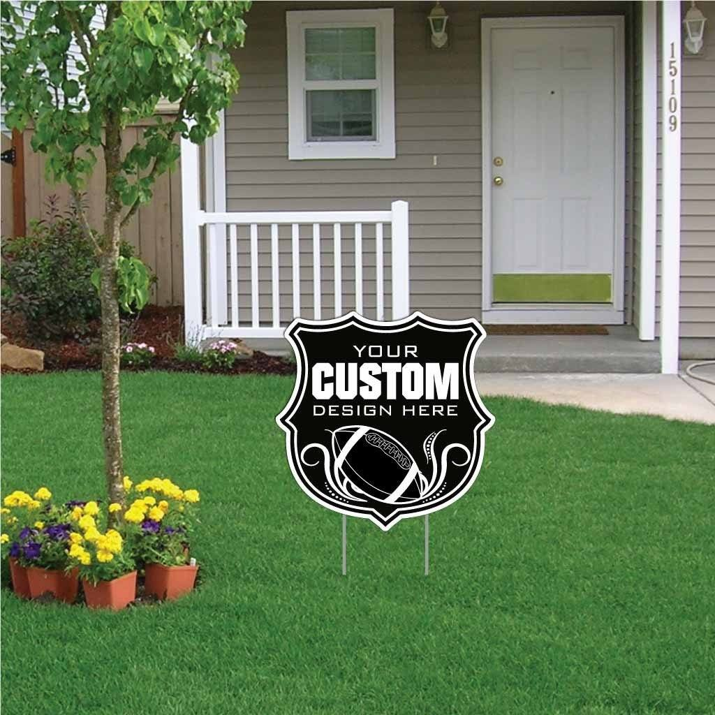 "Shield Shaped Yard Sign - 22x22"" Corrugated Plastic"