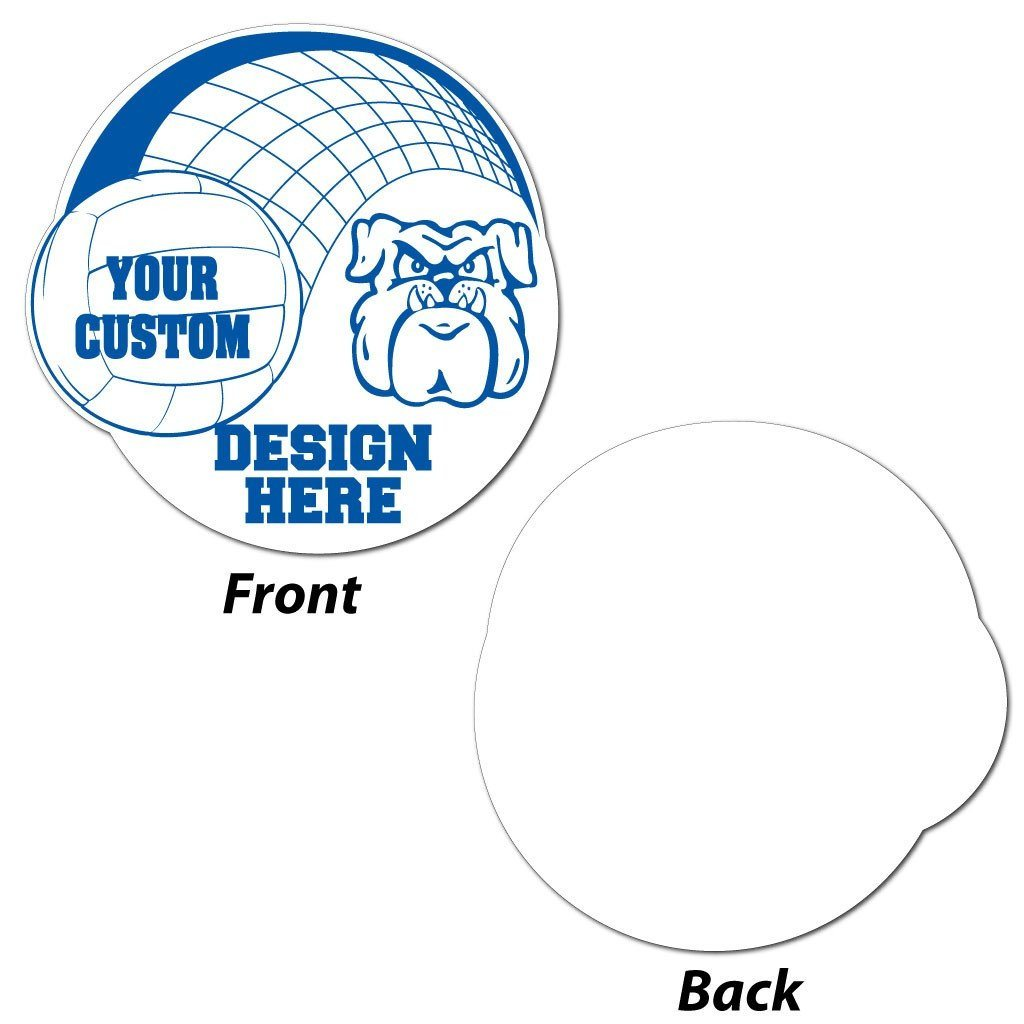 Volleyball Double Circle Yard Sign - Corrugated Plastic