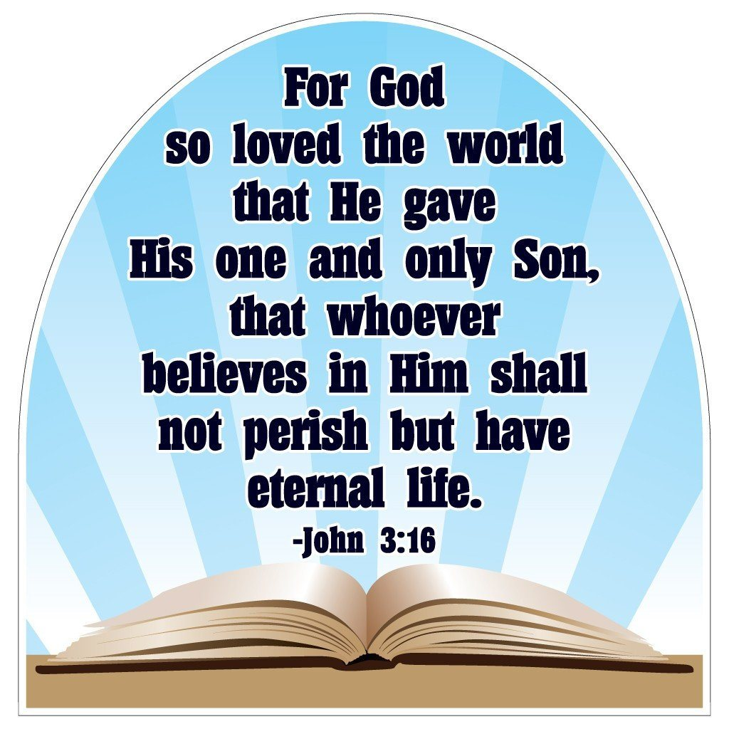 John 3:16 Corrugated Plastic Shaped Yard Sign - FREE SHIPPING