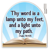 Psalms 119:105 Corrugated Plastic Shaped Yard Sign w/ 2 E-Z Stakes