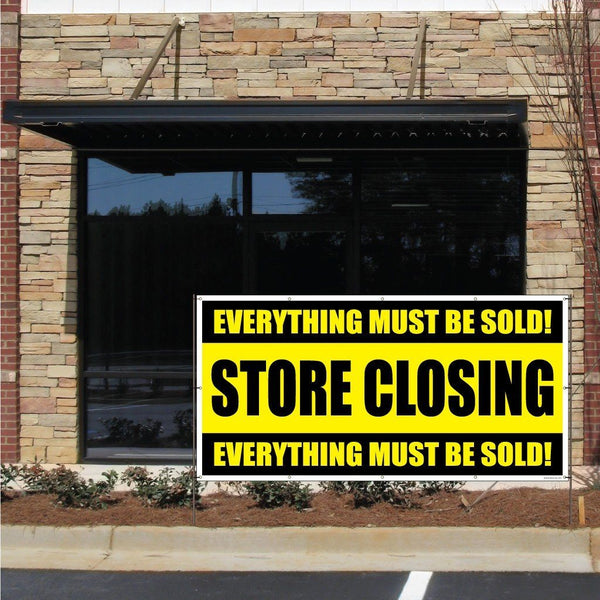 Store Closing Vinyl Banner with Grommets