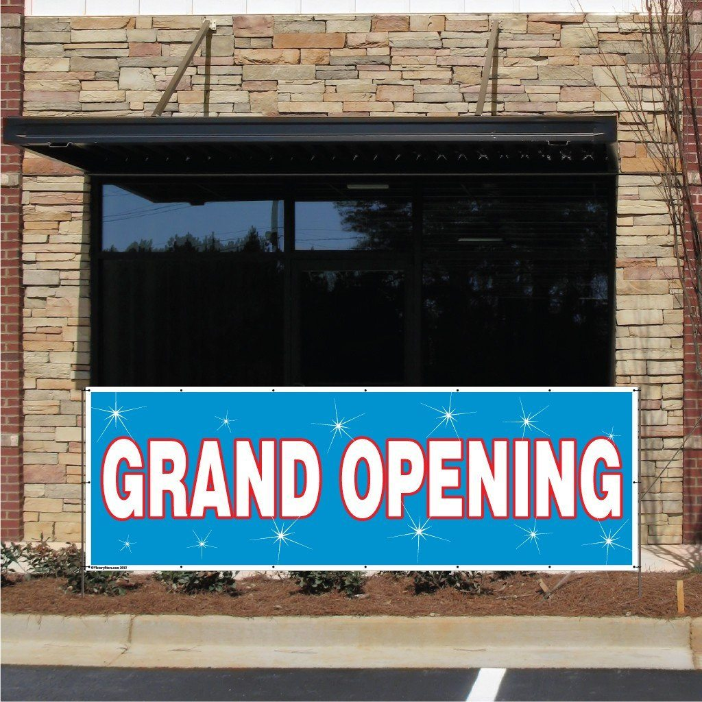 Grand Opening Vinyl Banner with Grommets