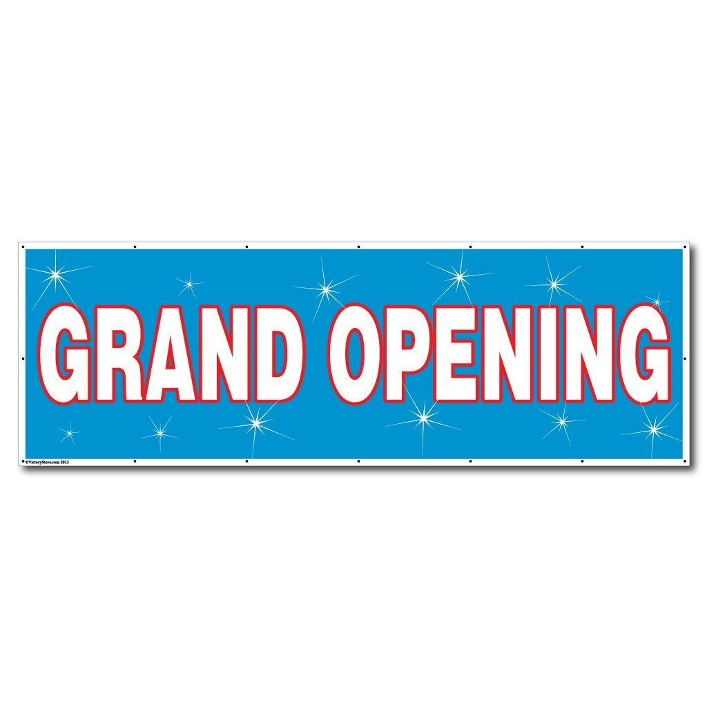 Grand Opening Vinyl Banner With Grommets VictoryStorecom - Vinyl banners with grommets