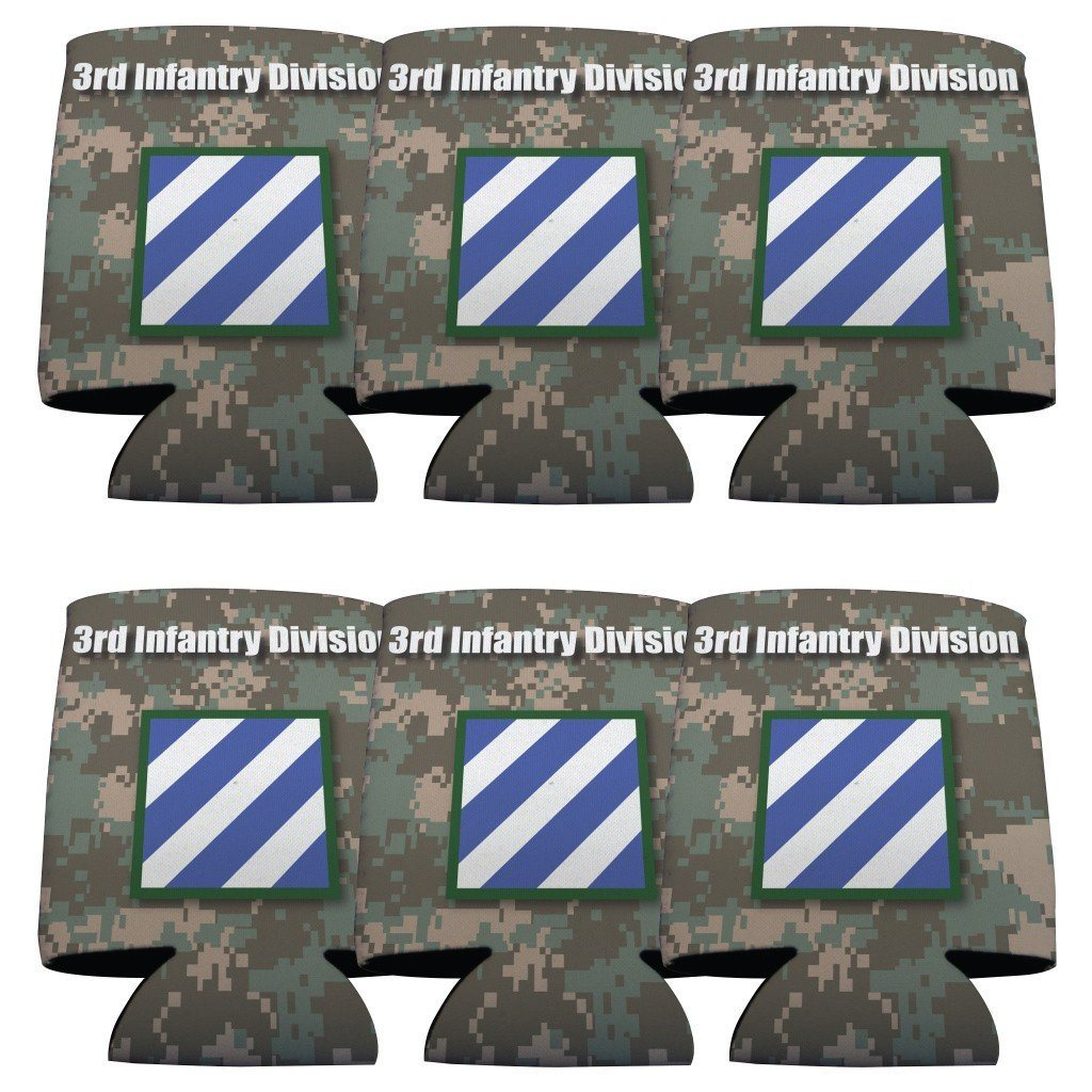 Military 3rd Infantry Division Can Cooler Set of 6 - 6 Designs - FREE SHIPPING