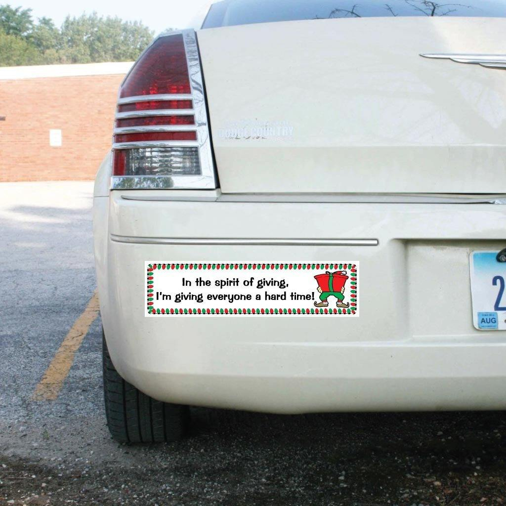 In the Spirit of Giving Bumper Magnet - FREE SHIPPING