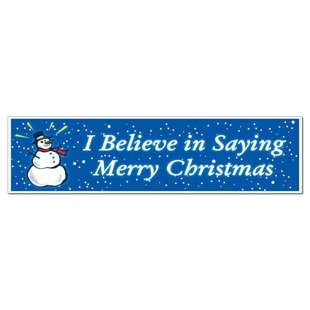 I Believe in Saying Merry Christmas (Snowman) Bumper Magnet - FREE SHIPPING