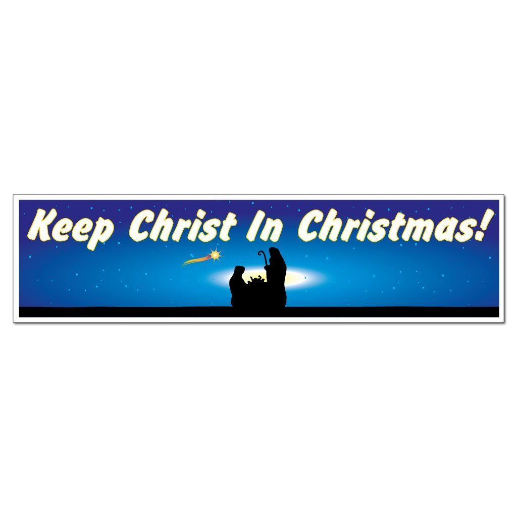 Keep Christ in Christmas (Nativity) Bumper Magnet - FREE SHIPPING
